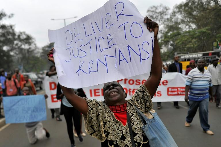 Kenyans have staged demonstrations to demand the removal and arrest of members of the Independent Electoral and Boundaries Commission accused of criminal interference with the process of Kenya's presidential election in August