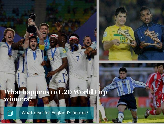 What happens to U20 World Cup winners?