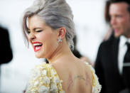 British actress Kelly Osbourne arrives at the 20th annual Elton John AIDS Foundation Academy Awards Viewing Party in West Hollywood, California February 26, 2012. REUTERS/Gus Ruelas (UNITED STATES - Tags: ENTERTAINMENT) (OSCARS-PARTIES)