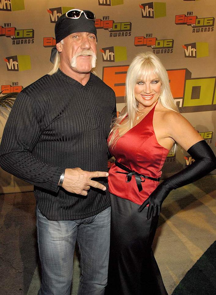 """Hulk Hogan was caught off-guard when a St. Petersburg Times reporter informed him that his wife of 24 years, Linda Bollea, had filed for divorce in November. With his son Nick's legal woes, and his wife moving to California, will """"Hogan Knows Best"""" go on? Kevin Mazur/<a href=""""http://www.wireimage.com"""" target=""""new"""">WireImage.com</a> - September 7, 2006"""