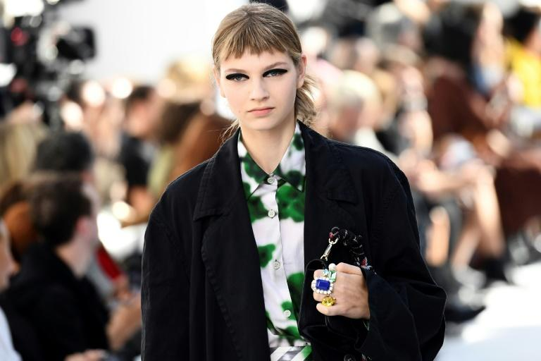 Eyeliner may yet prove to be the saviour of the fashion conscious during isolation (AFP Photo/Anne-Christine POUJOULAT            )
