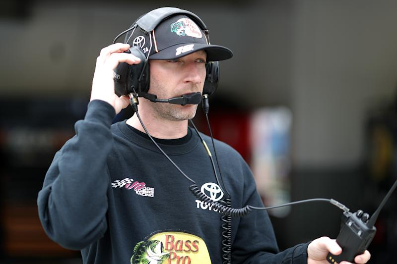 DAYTONA BEACH, FL - FEBRUARY 09: Crew chief Cole Pearn stands in the garage area during practice for the Monster Energy NASCAR Cup Series 61st Annual Daytona 500 at Daytona International Speedway on February 9, 2019 in Daytona Beach, Florida. (Photo by Chris Graythen/Getty Images)