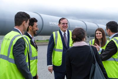 US Department of Transportation officials visit HyperloopTT's full-scale system in Toulouse