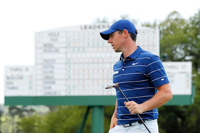 """<h1 class=""""title"""">2019 Masters - Round One</h1> <div class=""""caption""""> Please, if Rory McIlroy wins our simulated Masters, don't tell him. </div> <cite class=""""credit"""">(Photo by Kevin C. Cox/Getty Images)</cite>"""