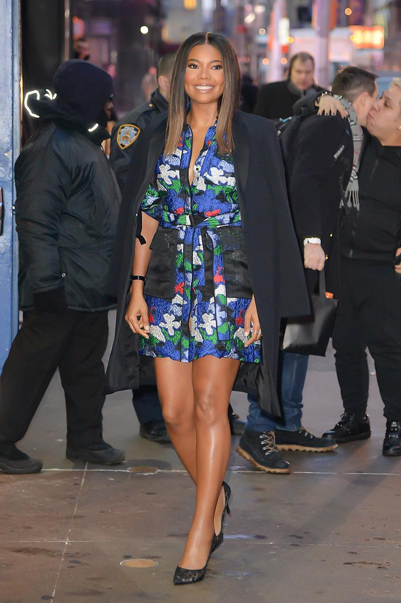 Gabriella Union is seen outside