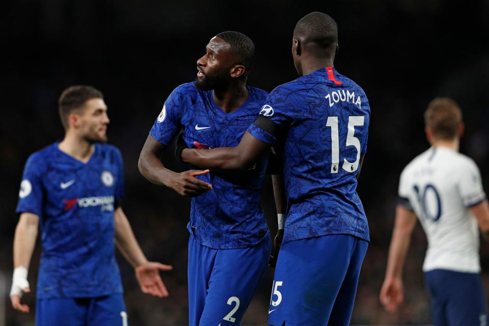 Chelsea defender Antonio Rüdiger said he heard racist chants during last month's match against Tottenham. (Photo by ADRIAN DENNIS/AFP via Getty Images)