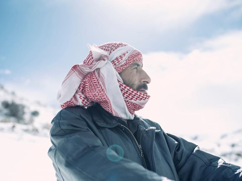 Nayef, 35, left the Syrian countryside in 2014 to flee war for Lebanon: Photography by Paddy Dowling/Qatar Charity