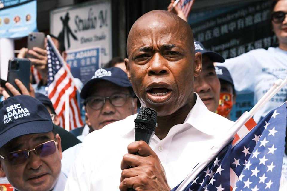 Brooklyn Borough President Eric Adams, one of the front-runners in the Democratic mayoral primary (Getty Images)