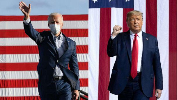 PHOTO: Democratic presidential nominee and former Vice President Joe Biden and President Donald Trump. (AFP via Getty Images, FILES)