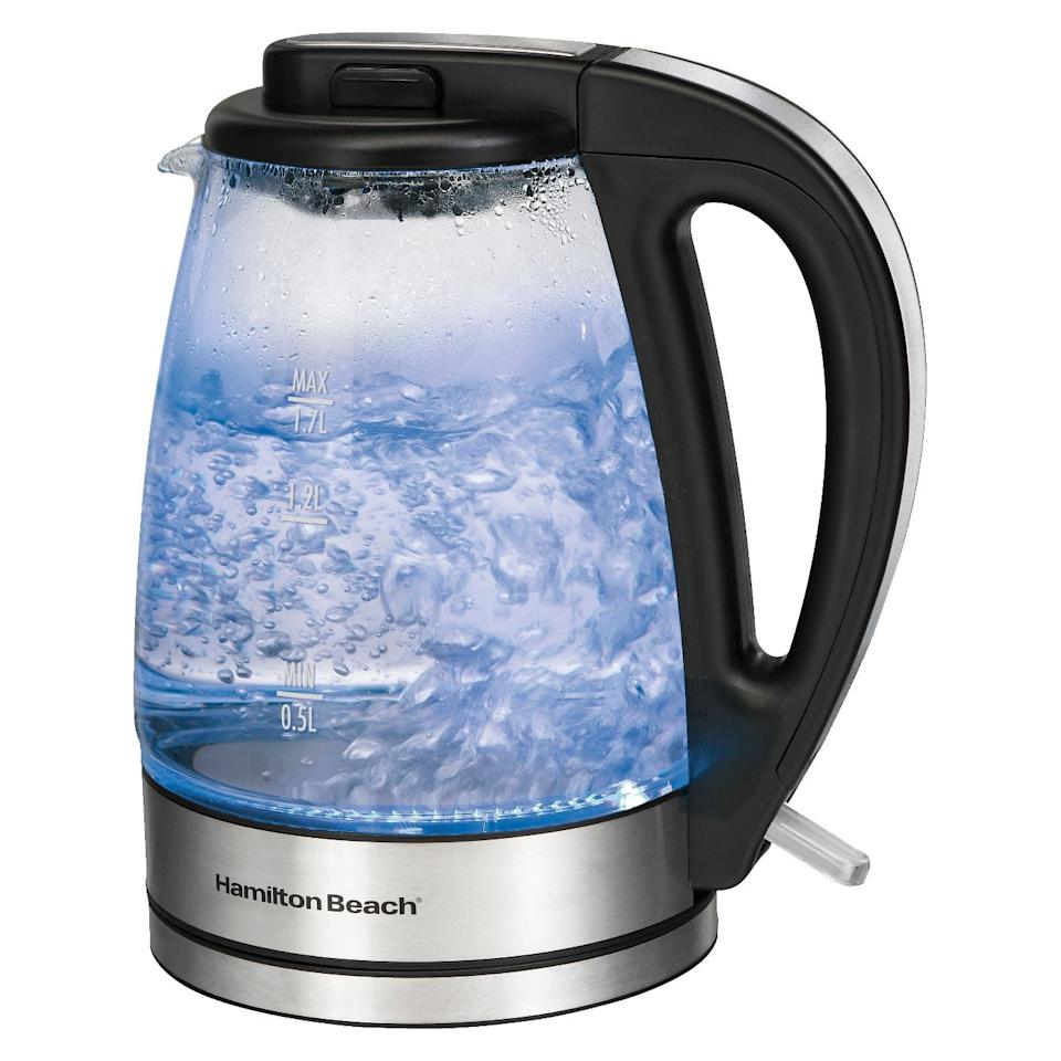 "<p>When you bring home a new baby, it can seem as though your house has a revolving door. An electric tea kettle, like the <a href=""https://www.popsugar.com/buy/Hamilton-Beach-17L-Illuminated-Glass-Cordless-Kettle-526790?p_name=Hamilton%20Beach%201.7L%20Illuminated%20Glass%20Cordless%20Kettle&retailer=target.com&pid=526790&price=35&evar1=moms%3Aus&evar9=46876280&evar98=https%3A%2F%2Fwww.popsugar.com%2Ffamily%2Fphoto-gallery%2F46876280%2Fimage%2F46883092%2FHamilton-Beach-17L-Illuminated-Glass-Cordless-Kettle&list1=winter%2Cparenting%2Cbabies%2Cmaternity%20leave&prop13=api&pdata=1"" rel=""nofollow"" data-shoppable-link=""1"" target=""_blank"" class=""ga-track"" data-ga-category=""Related"" data-ga-label=""https://www.target.com/p/hamilton-beach-1-7l-illuminated-glass-cordless-kettle-40869/-/A-15066824"" data-ga-action=""In-Line Links"">Hamilton Beach 1.7L Illuminated Glass Cordless Kettle</a> ($35), brings water to the perfect temperature in record time, so offering your guests a cup of tea or hot cocoa is anything but an inconvenience.</p>"