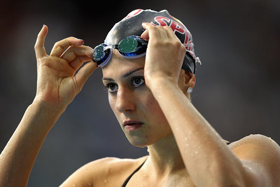Stephanie Rice of Australia warms up during day three of the Australian Swimming Championships at the South Australian Aquatic & Leisure Centre on March 17, 2012 in Adelaide, Australia. (Photo by Quinn Rooney/Getty Images)