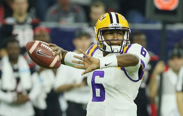 Brandon Harris lost the starting job to Danny Etling at LSU in 2016. (Getty)
