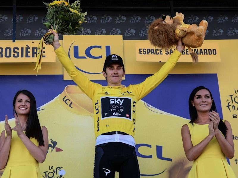 Thomas goes into stage 12 as the overall leader (AFP/Getty Images)