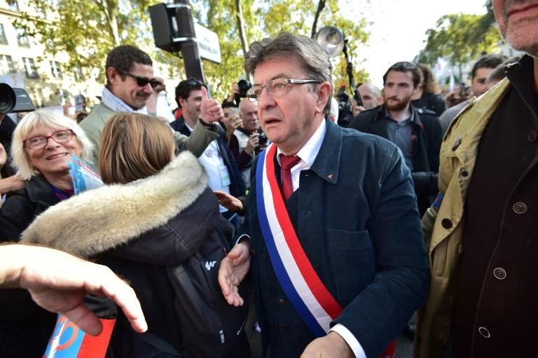 Jean-Luc Melenchon has seized on the disarray in the rudderless mainstream left and right to present his France Unbowed as the only real opposition -- both in parliament and on the street