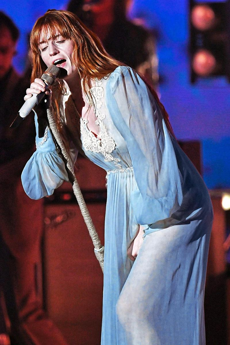 Home bird: Florence Welch said she finds it difficult to leave her life in south London when she goes on tour (Kevin Winter/Getty)