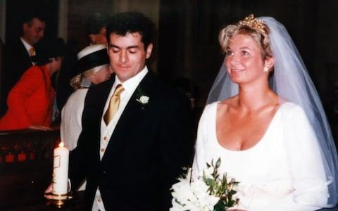 Jacinta and Bernie on their wedding day in 1997 - Credit:  John Lawrence