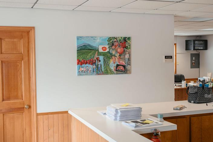 """The office at Jones and Church Farms tomato farm<span class=""""copyright"""">Mike Belleme for TIME</span>"""