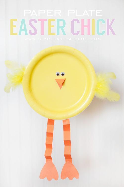 4. Paper Plate Easter Chicken & 14 Simple Easter Crafts to Do With Your Kids