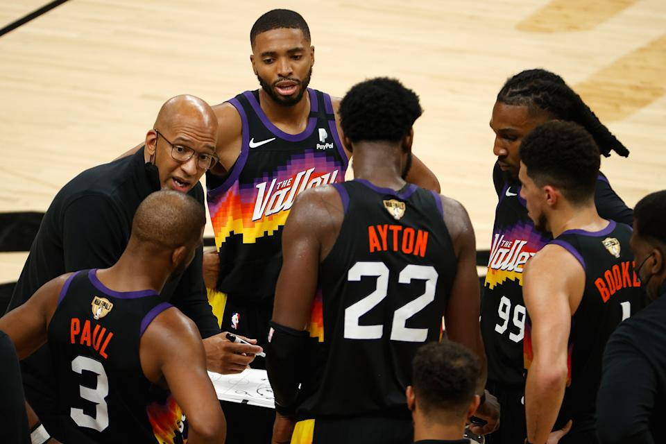 Suns coach Monty Williams led his team to the 2021 NBA Finals.  (Photo by Christian Petersen/Getty Images)