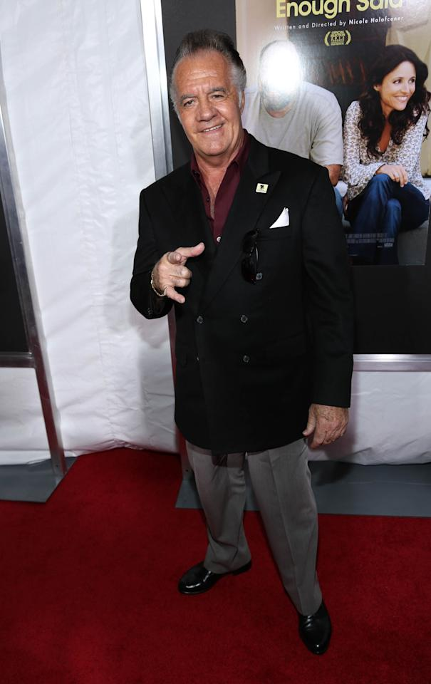 "NEW YORK, NY - SEPTEMBER 16: Tony Sirico attends ""Enough Said"" New York Screening at Paris Theater on September 16, 2013 in New York City. (Photo by Rob Kim/Getty Images)"