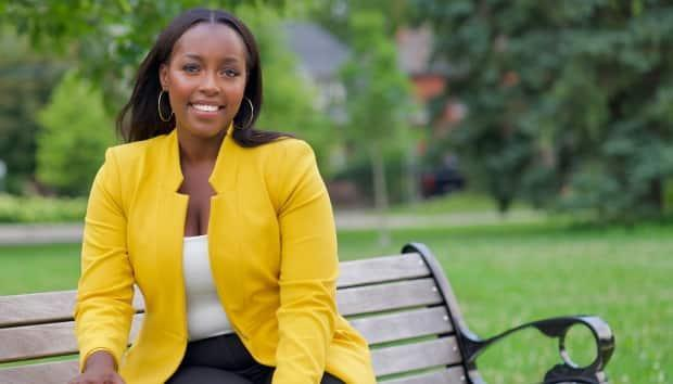 Arielle Kayabaga, a first-term city councillor in London, Ont., was elected MP for London West on Monday. She's also enrolled in the Clayton H. Riddell Graduate Program in Political Management at Carleton University. (ariellekayabaga.liberal.ca - image credit)