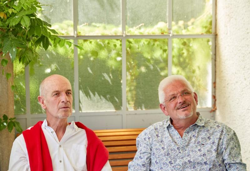 Bugnon and Marmier give an interview in Lausanne