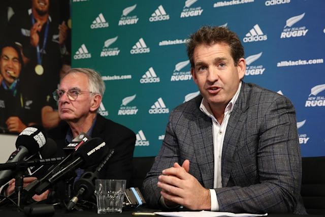 Excited: New Zealand Rugby chief executive Mark Robinson (Getty Images)
