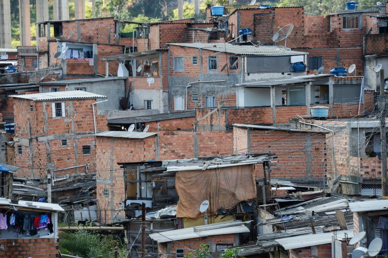 Partial view of the Jardim Peri neighborhood, outskirts of Sao Paulo, Brazil, on May 20, 2018. (Photo by NELSON ALMEIDA / AFP) (Photo credit should read NELSON ALMEIDA/AFP via Getty Images)