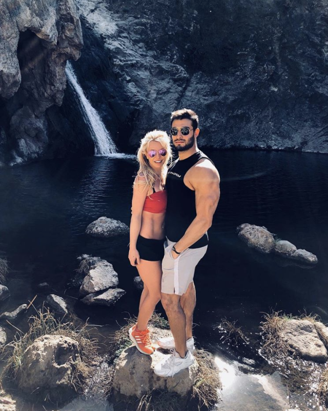 "<p>It's been a bumpy road to love for the pop princess, but it looks like <a href=""https://www.yahoo.com/lifestyle/britney-spears-reveals-boyfriend-sam-225039274.html"" data-ylk=""slk:she may have found ""the one"";outcm:mb_qualified_link;_E:mb_qualified_link"" class=""link rapid-noclick-resp newsroom-embed-article"">she may have found ""the one""</a> in boyfriend Sam Asghari. ""I've been with this man for over a year,"" the mom of two captioned this hiking pic. ""Everyday he inspires me to be a better person and that makes me feel like the luckiest girl in the world!!"" (Photo: <a href=""https://www.instagram.com/p/Be1Ht6wF4Lj/?taken-by=britneyspears"" rel=""nofollow noopener"" target=""_blank"" data-ylk=""slk:Britney Spears via Instagram"" class=""link rapid-noclick-resp"">Britney Spears via Instagram</a>) </p>"