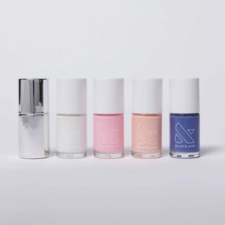 """<h3>Olive & June The Summer Set<br></h3><br>""""Your Cancer bestie's favorite nail shades are all in this set,"""" Stardust explains. """"It even has the color lilac, which is your lovable moonchild's ideal shade for their zodiac sign.""""<br><br><strong>Olive & June</strong> The Summer Set, $, available at <a href=""""https://go.skimresources.com/?id=30283X879131&url=https%3A%2F%2Foliveandjune.com%2Fcollections%2Fmani-sets%2Fproducts%2Fthe-summer-set"""" rel=""""nofollow noopener"""" target=""""_blank"""" data-ylk=""""slk:Olive & June"""" class=""""link rapid-noclick-resp"""">Olive & June</a>"""
