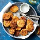 <p>Fresh zucchini slices are battered in crispy panko and pan-fried until golden brown and crunchy. You can eat them with a fork, but popping these zucchini chips by the slice is perfectly acceptable. Serve with a dollop of creamy dressing for a simple summer vegetable side.</p>