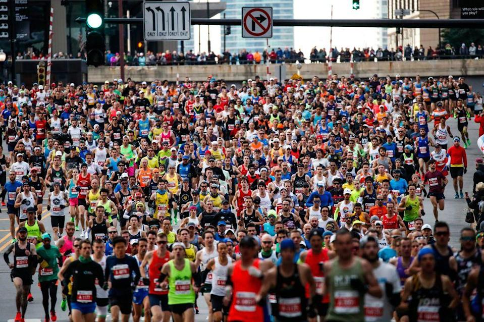 "<p>Okay, fine, it's not the weirdest rule, but just like other sports, <a href=""https://www.chicagomarathon.com/runners/rules-safety/event-rules/"" rel=""nofollow noopener"" target=""_blank"" data-ylk=""slk:performance enhancing drugs"" class=""link rapid-noclick-resp"">performance enhancing drugs</a> aren't allowed.</p>"