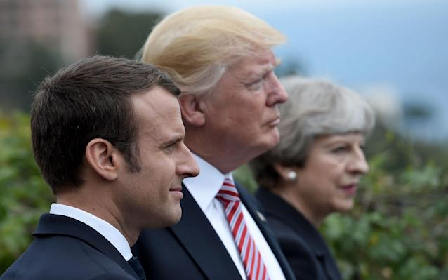 """The UK, France and Germany are locked in """"intense"""" talks with the US in an attempt to stop the Trump administration scuppering the Iran nuclear deal. President Donald Trump's threat to reintroduce sanctions against Iran on May 12 threatens to disrupt his budding partnership with French leader Emmanuel Macron, who heads to Washington for a state visit next week. The 2015 deal between Iran and the three European powers, the US, China, Russia gave Tehran relief from sanctions in exchange for restrictions on its nuclear programme. The UK and France are holding regular talks as they try to come up with a plan in the coming days to adapt the deal to satisfy Mr Trump's concerns. The deal is likely to be on the agenda during Mr Macron's visit, and a separate visit next week of German Chancellor Angela Merkel. Mr Trump has spoken warmly of his relationship with Emmanuel Macron Credit: Reuters White House objections include the extent of the inspection programme, the 10-year """"sunset"""" clauses for limits on Iran's nuclear activity and the exclusion of Iran's ballistic missiles from the deal. Among the possible proposals is an extension of inspections to cover military sites, laboratories and universities, and increasing sanctions on the Iranian regime over their ballistic missile programme. An attempt to impose new sanctions on Iran earlier this week at a meeting between EU foreign ministers fell apart after Italy reportedly raised objections over the knock-on impact on Russian officials. Iran has ruled out any renegotiation of the deal and has threatened to pull out over what it sees as an unstable economic environment created by Mr Trump's criticisms of the agreement. President Trump has railed against the deal, which was signed under US President Barack Obama Credit: Reuters UN nuclear inspectors have repeatedly verified Iranian compliance with the deal. Robert Wood, US disarmament ambassador, on Thursday said Washington hoped to reach an agreement with the three European po"""