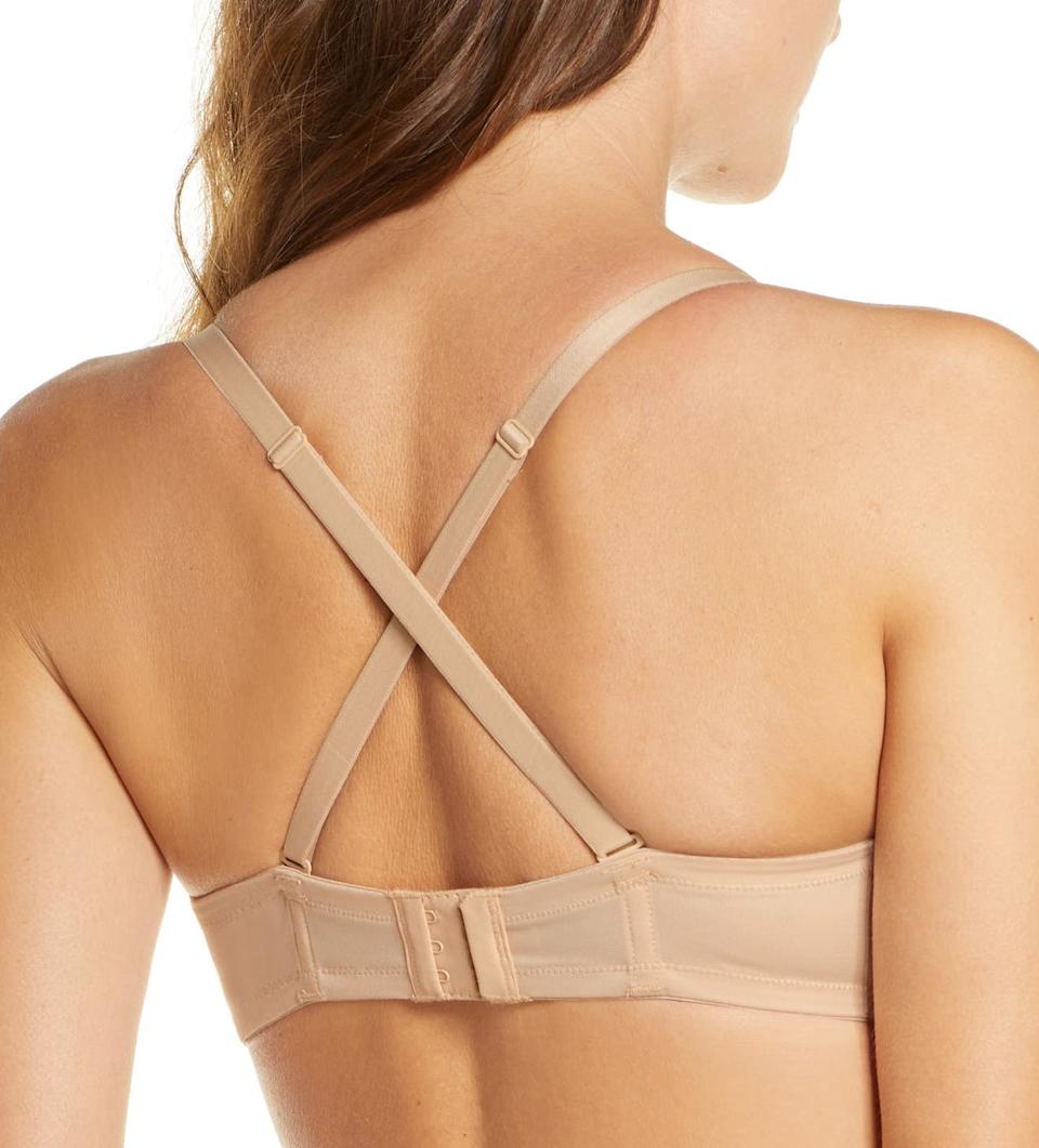 The Wacoal Red Carpet Convertible Strapless Bra can be worn in multiple ways. Image via Nordstrom.