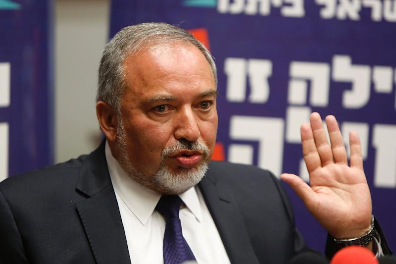 Israel's ex-foreign minister Avigdor Lieberman is expected to be appointed as defence minister in a new coalition government (AFP Photo/Gali Tibbon)