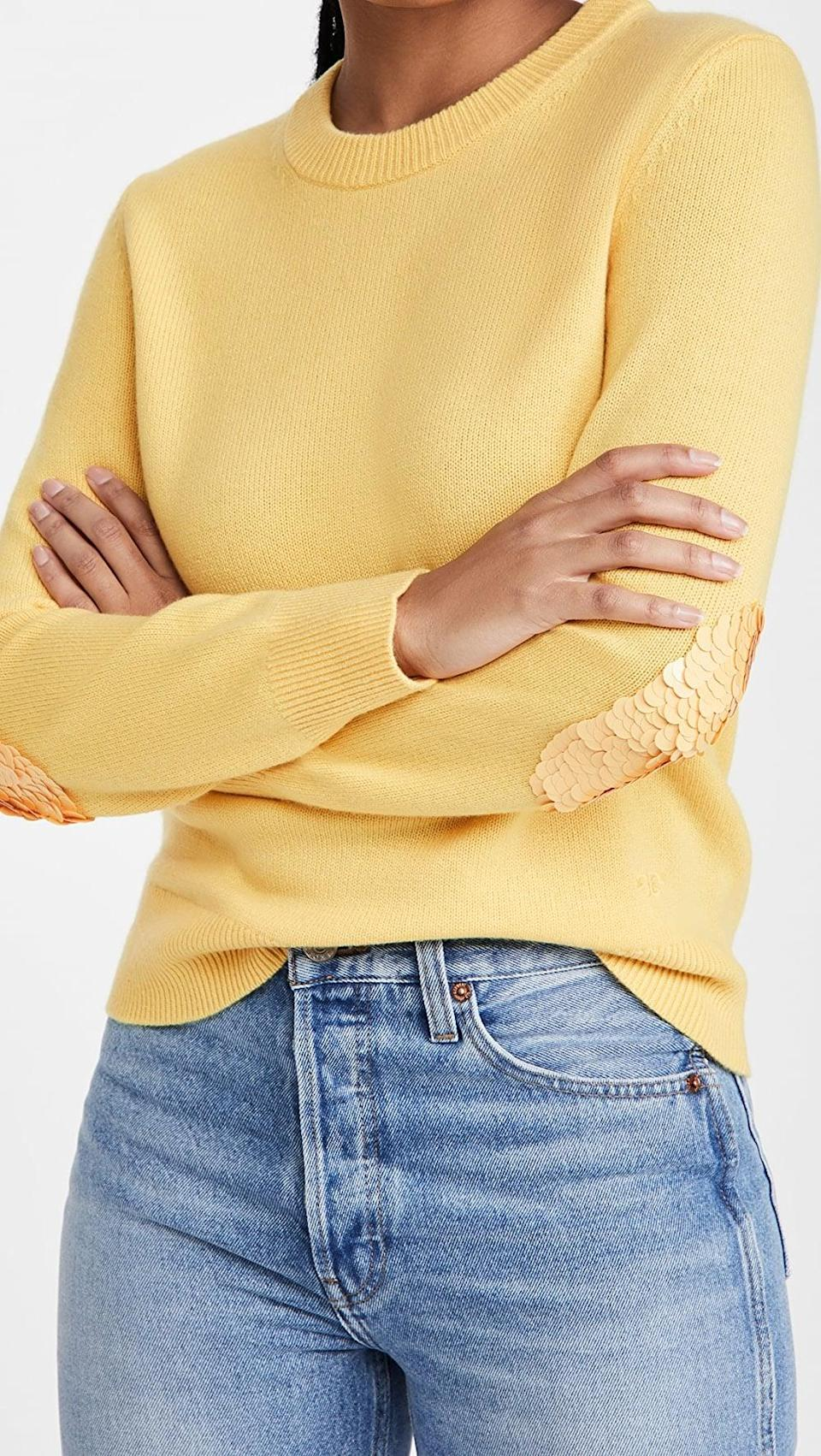 <p>This luxe <span>Tory Burch Cashmere Sweater With Sequins</span> ($398) is both comfortable and unique. We're so on board for this.</p>