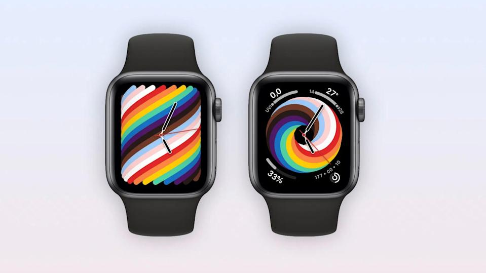 Apple released two Pride bands this year, as well as a new Pride watch face.