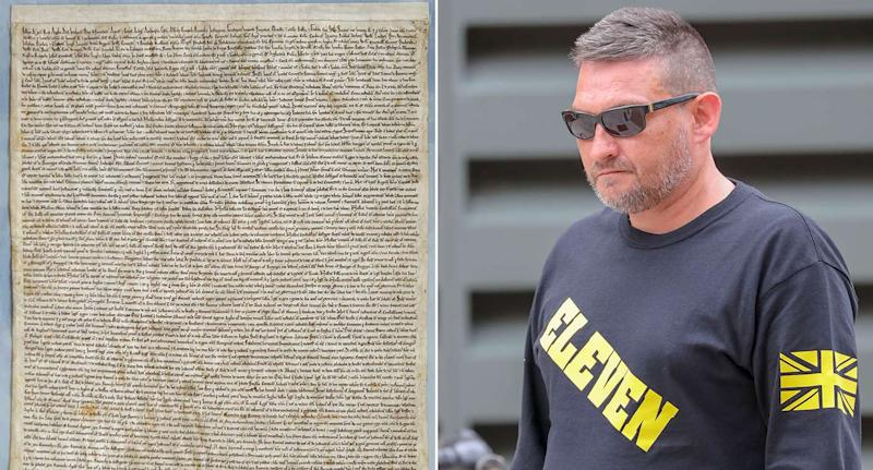 Mark Royden, right, is accused of attempting to steal the Magna Carta (Picture: PA)