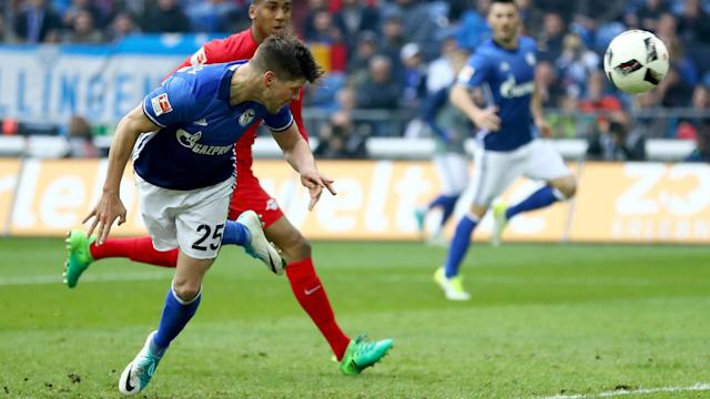 RB Leipzig's slim hopes of winning the Bundesliga title were dealt a blow as they had to settle for a 1-1 draw with Schalke.