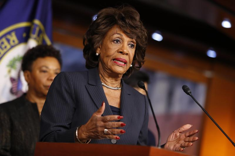Waters Continues Trump Assault