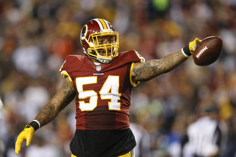 Washington Redskins linebacker Mason Foster was cut on Tuesday. (AP)