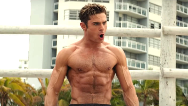 Zac Efron got into incredible shape for his role in 'Baywatch'. (Credit: Paramount)