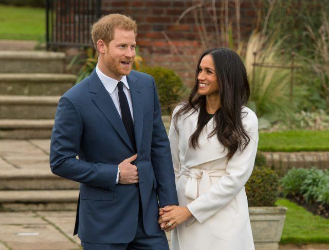 Prince Harry and Meghan Markle announced their engagement in November (Dominic Lipinski/PA)