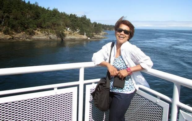 Marcelina Perdido Agulay was killed in a crash in North Vancouver on Tuesday night. (Beth Dollaga - image credit)