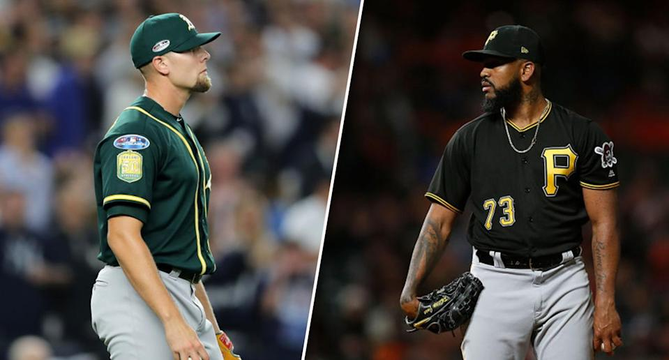 Our reliever tracker can help you monitor the most elite closers in the game. (Photos by Elsa/Lachlan Cunningham/Getty Images)