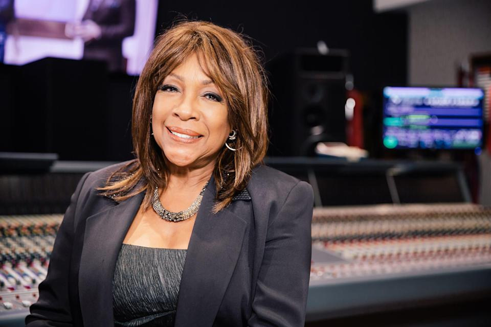 Mary Wilson, founding member of The Supremes, poses on the roof of Capitol Records on June 12, 2014, in Hollywood Calif.