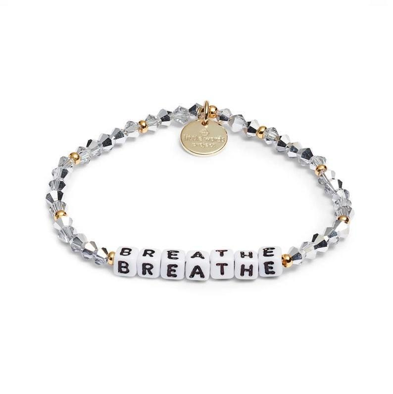 """Little Words Project sells handmade bracelets with special messages like """"Love Wins,"""" """"Fearless,"""" or """"Justice,"""" to suit the many issues we face in 2020. For every bracelet sold, Little Words Project donates $1 back to <a href=""""https://www.theblockorg.com/"""" rel=""""nofollow noopener"""" target=""""_blank"""" data-ylk=""""slk:The Block Organization"""" class=""""link rapid-noclick-resp"""">The Block Organization</a>—and <a href=""""https://www.glamour.com/story/taylor-swift-free-people-top?mbid=synd_yahoo_rss"""" rel=""""nofollow noopener"""" target=""""_blank"""" data-ylk=""""slk:Taylor Swift"""" class=""""link rapid-noclick-resp"""">Taylor Swift</a> and Alicia Keys are fans. $20, Nordstrom. <a href=""""https://www.nordstrom.com/s/little-words-project-breathe-beaded-stretch-bracelet/5633231"""" rel=""""nofollow noopener"""" target=""""_blank"""" data-ylk=""""slk:Get it now!"""" class=""""link rapid-noclick-resp"""">Get it now!</a>"""