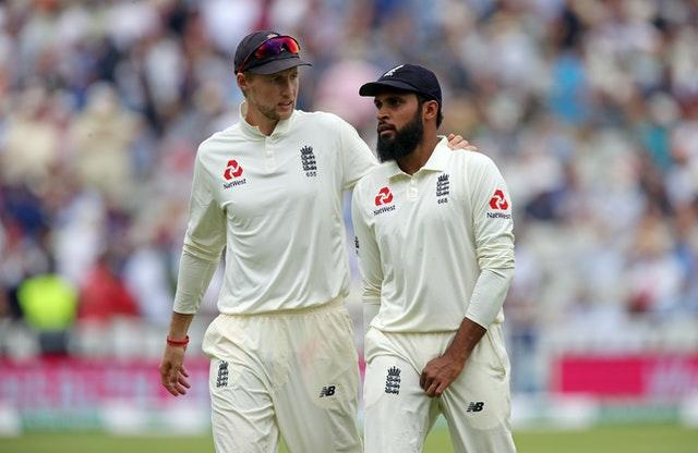 Adil Rashid (right) last played for Joe Root's Test side in January 2019.