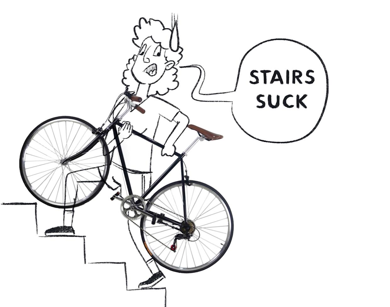 In Amsterdam, stairs really suck.