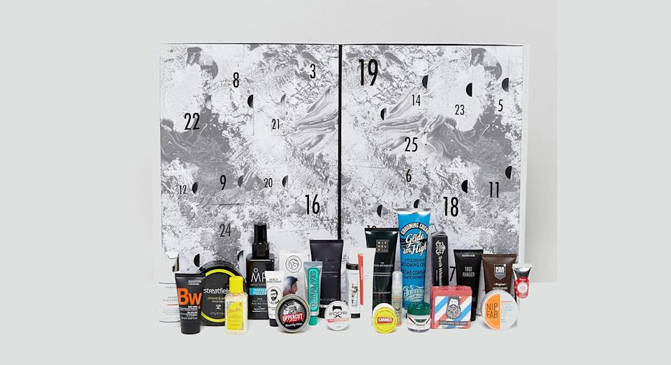 <p>ASOS isn't just selling a beauty advent calendar for women this year. This grooming alternative is perfect for men who want to up their skincare game as the new year rolls round. <em>Available at ASOS.</em> </p>